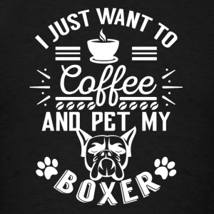 Coffee and pet my boxer w Sportswear - Men's T-Shirt