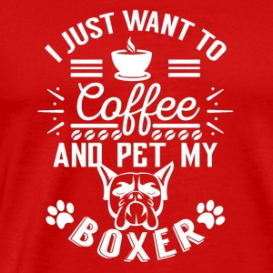 Coffee and pet my boxer w Sportswear - Men's Premium T-Shirt