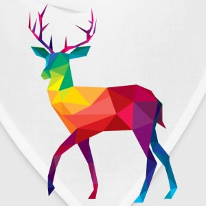 Deer, Polygonal, Illustration, Wildlife, Color T-Shirts - Bandana