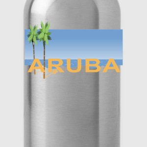 aruba_caribbean_island_ - Water Bottle