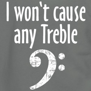 I won't cause any Treble Bass Design T-Shirts - Unisex Fleece Zip Hoodie by American Apparel