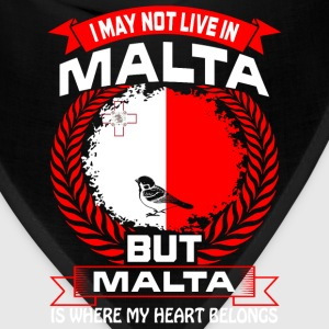 Malta Is Where My Heart Belongs Country Tshirt T-Shirts - Bandana