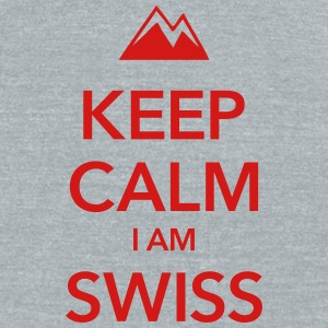 KEEP CALM I AM SWISS - Unisex Tri-Blend T-Shirt by American Apparel