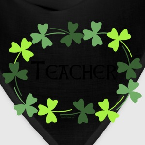 Teacher Shamrock Oval Zip Hoodies/Jackets - Bandana