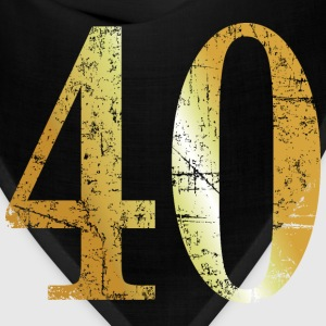 Number 40 - 40th Birthday Design (Ancient Gold) Long Sleeve Shirts - Bandana