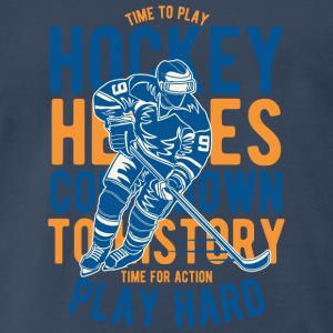 Time For Action Playhard - Hockey Heroes T Shirt Sportswear - Men's Premium T-Shirt