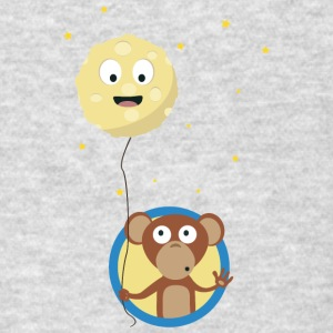Monkey with friendly moon on a rope Gift Sportswear - Men's T-Shirt