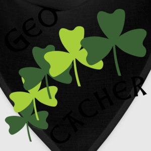 Geocacher Shamrocks Zip Hoodies/Jackets - Bandana