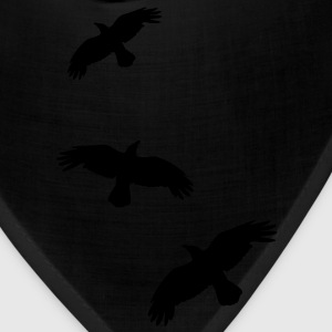 1 color - raven mystical crows flying birds T-Shirts - Bandana