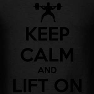 Keep Calm And Lift On Tanks - Men's T-Shirt