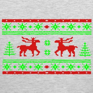ugly_christmas_sweater_moose_design Long Sleeve Sh - Men's Premium Tank