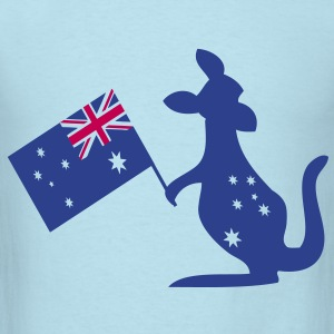 Australian animal kangaroo Baby Long Sleeve One Pi - Men's T-Shirt