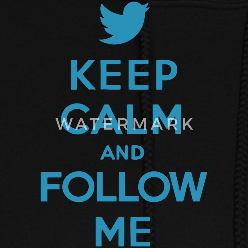 Keep Calm and Follow Me Twitter Hoodies - Women's Hoodie