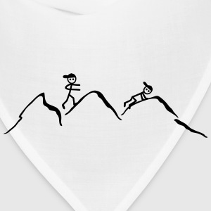 Climber in the mountains T-Shirts - Bandana
