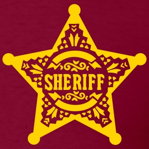 Sheriff Star Badge, Lincoln County, Old West Hoodies - Men's T-Shirt