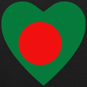 Bangladesh Flag Heart T-Shirt - Men's Premium Tank