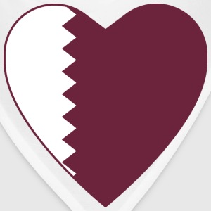 Qatar Flag Heart T-Shirt - Bandana