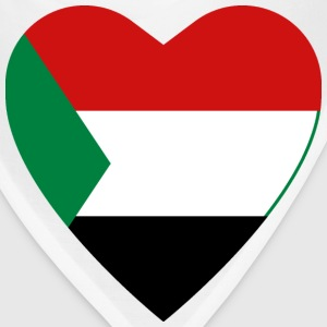 Sudan Flag Heart T-Shirt - Bandana