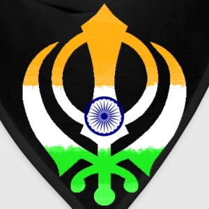 Indian Flag Khanda (Sikhism) T-Shirts - Bandana