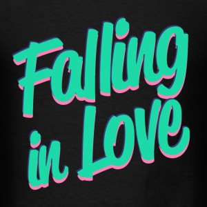 Falling in Love Long Sleeve Shirts - Men's T-Shirt