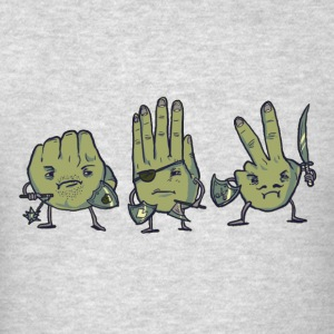 Rock Paper Scissors Crewneck - Men's T-Shirt