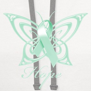 Ovarian Cancer Hope Butterfly Phone & Tablet Covers - Contrast Hoodie