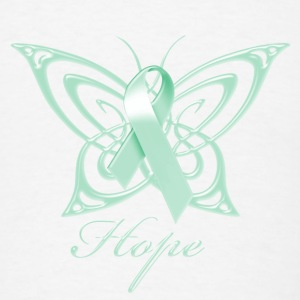 Ovarian Cancer Hope Butterfly Phone & Tablet Covers - Men's T-Shirt