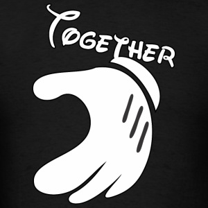 Together Mickey Hand Men's Hooded Sweatshirt - Men's T-Shirt