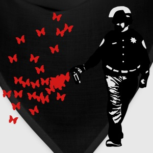 Police - Street Art Pepper Spray Cop Butterfly Bags & backpacks - Bandana