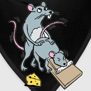 Mouse Screwing a Mouse in a Mousetrap  T-Shirts - Bandana