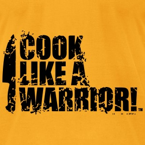 COOK LIKE A WARRIOR! - Chef Knife Bags & backpacks - Men's T-Shirt by American Apparel