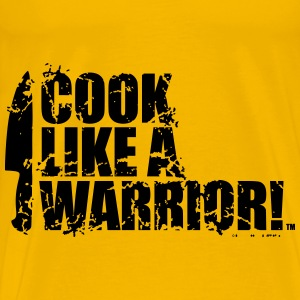 COOK LIKE A WARRIOR! - Chef Knife Bags & backpacks - Men's Premium T-Shirt