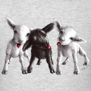 Cute funny and cheeky sheep - Men's T-Shirt
