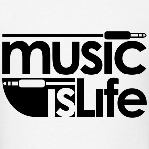 Music is Life Baby & Toddler Shirts - Men's T-Shirt