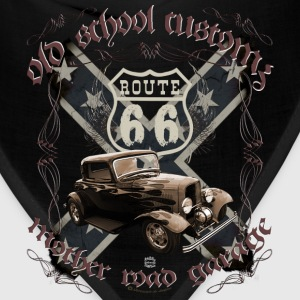 oldschool customs Route 66 road hot rod rod T-Shirts - Bandana