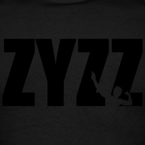 Zyzz text Zip Hoodies & Jackets - Men's T-Shirt