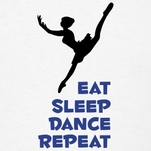 eat_sleep_dance_narrow Phone & Tablet Cases - Men's T-Shirt