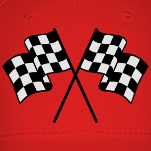 Checkered Flag 2 color T-Shirts - Baseball Cap