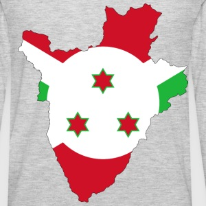Burundi Flag Map With Stroke - Men's Premium Long Sleeve T-Shirt