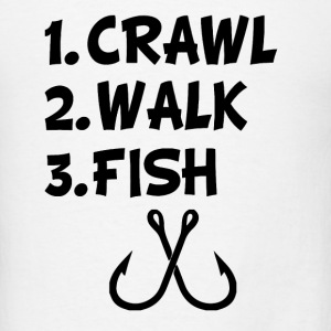 Crawl Walk Fish baby Boy shirt  - Men's T-Shirt
