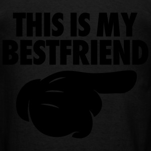 This Is My Bestfriend (Pointing Right) Zip Hoodies & Jackets - Men's T-Shirt