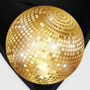 Disco Ball / Mirror Ball (Gold, PNG) T-Shirt - Bandana