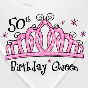 Tiara 50th Birthday Queen T-Shirt - Bandana