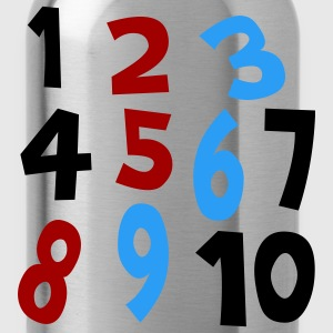 Royal blue Numbers 1 - 10 Without Background Kids & Baby - Water Bottle