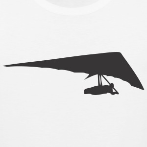 White Hang Glider T-Shirts - Men's Premium Tank