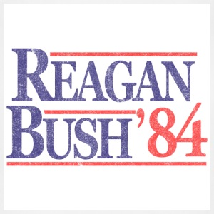 White Vintage Reagan Bush 1984 T-Shirts - Adjustable Apron