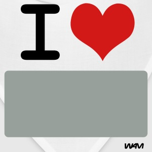 White I LOVE ...WRITE IT by wam ( writable flex) T-Shirts - Bandana