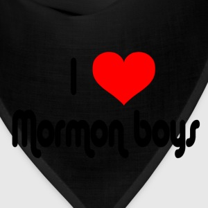 Yellow I Love Mormon Boys T-Shirts - Bandana