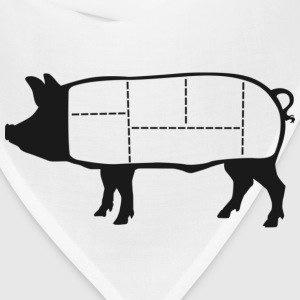 Pork Cuts Diagram T-shirt - Bandana