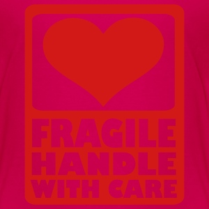 Hot pink Fragile Handle with care Kids' Shirts - Toddler Premium T-Shirt
